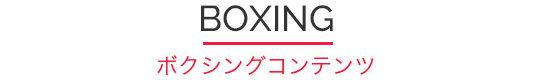 ボクシングコンテンツロゴ