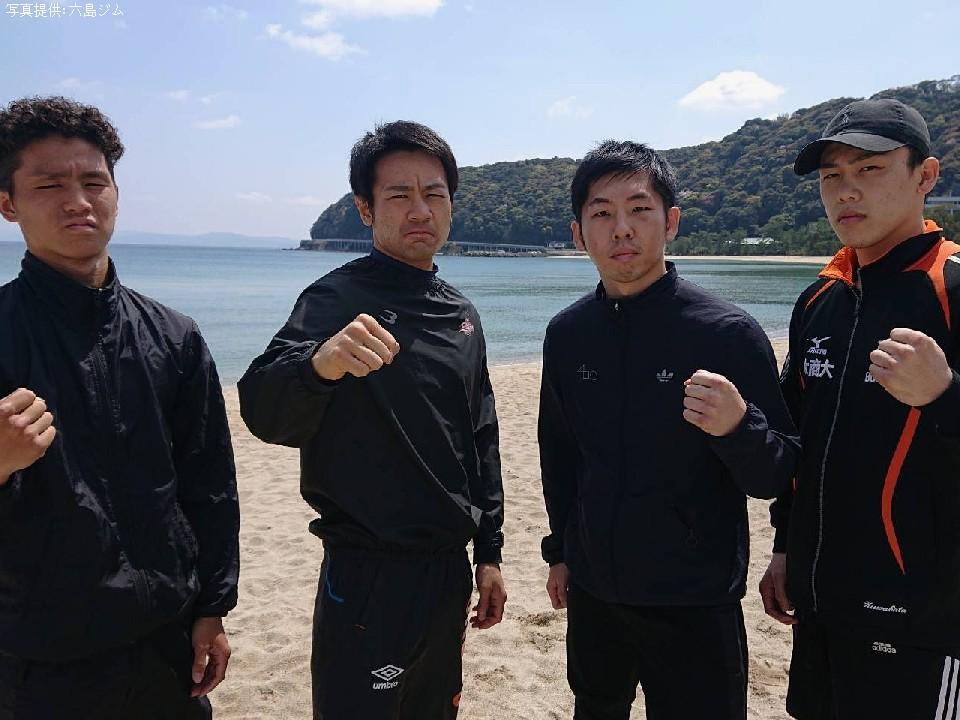 六島ジムの精鋭が淡路島で走り込み合宿