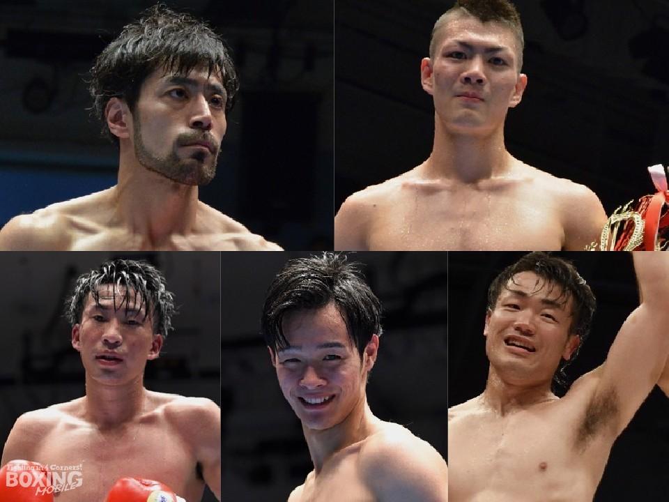 これからの飛躍が期待される5人のボクサー