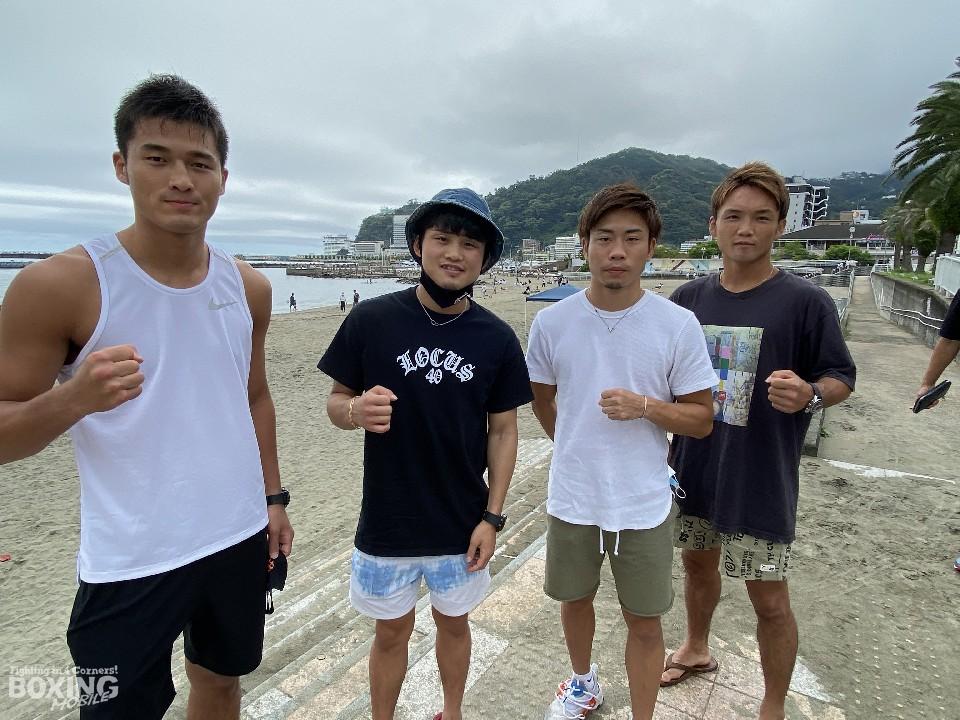 京口紘人ら4選手が熱海で砂浜ダッシュ!