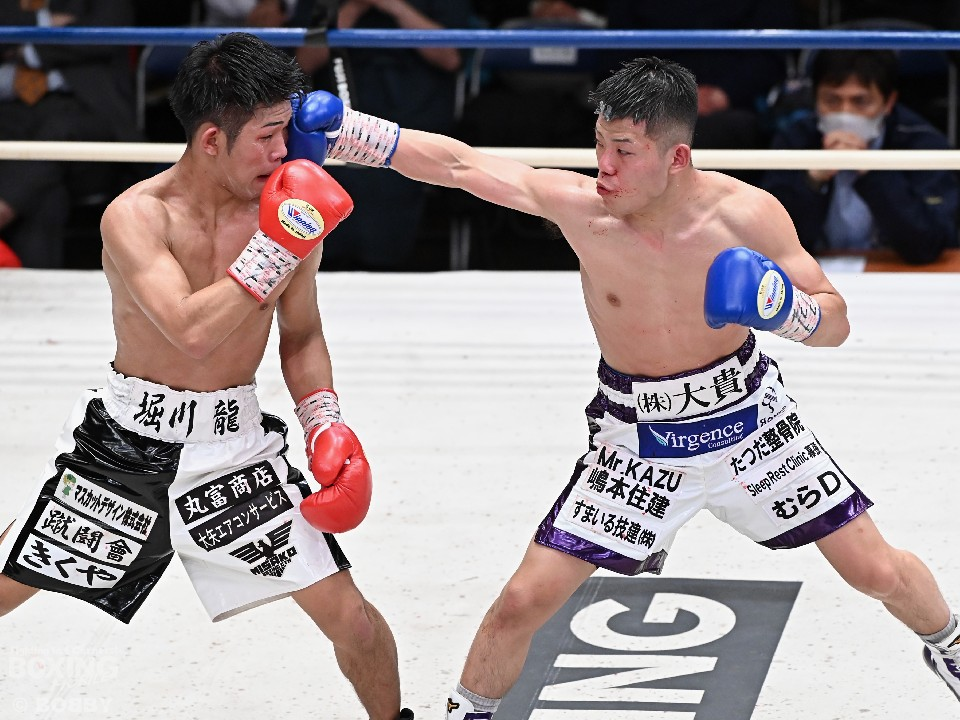 左:堀川龍(三迫)  右:重岡優大(ワタナベ)