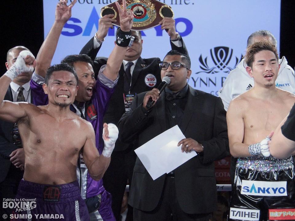 2018年大晦日WBO世界王座決定戦<br> ニエテスが井岡一翔に勝利